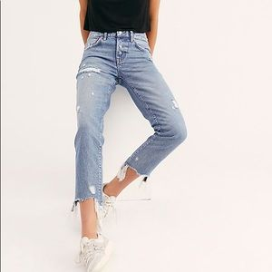 We The Free Good Time Skinny Jeans 27 Distressed
